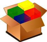 package, cardboard box, box