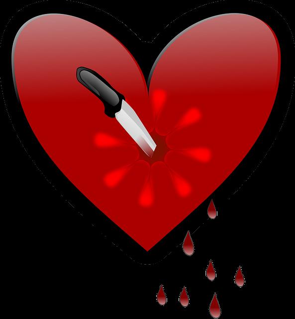 Poignard coeur bris couteau images vectorielles - Images coeur gratuites ...