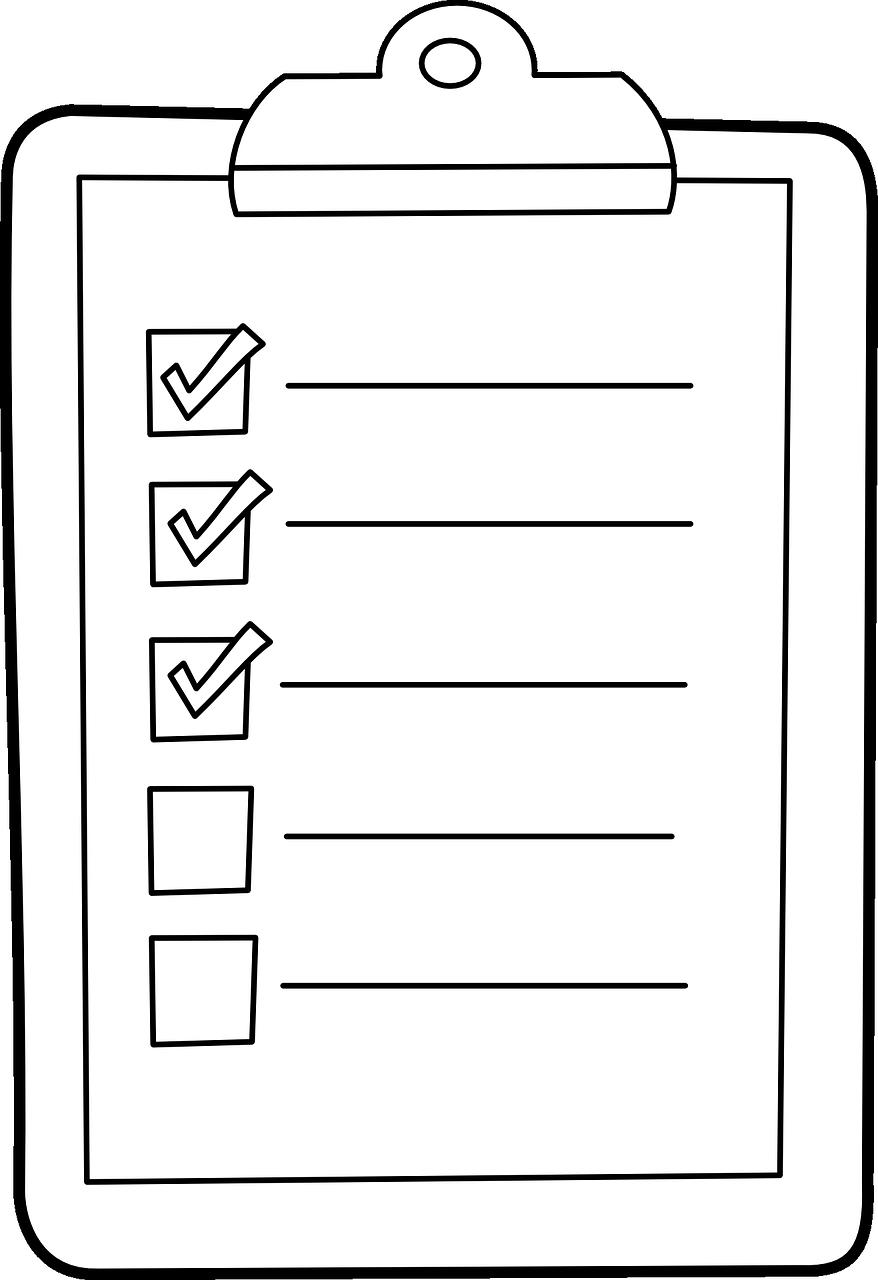Картинки черно белые список дел