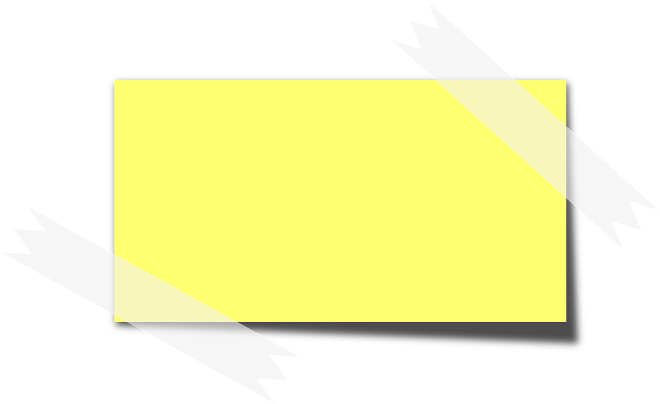 Sticky Note Memo Yellow · Free vector graphic on Pixabay
