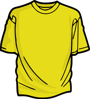 T-Shirt, Shirt, Clothing, Yellow