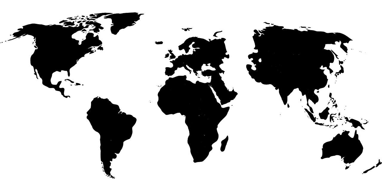World Map Asia Black Free Vector Graphic On Pixabay