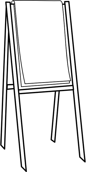 Easel Canvas Painting · Free vector graphic on Pixabay