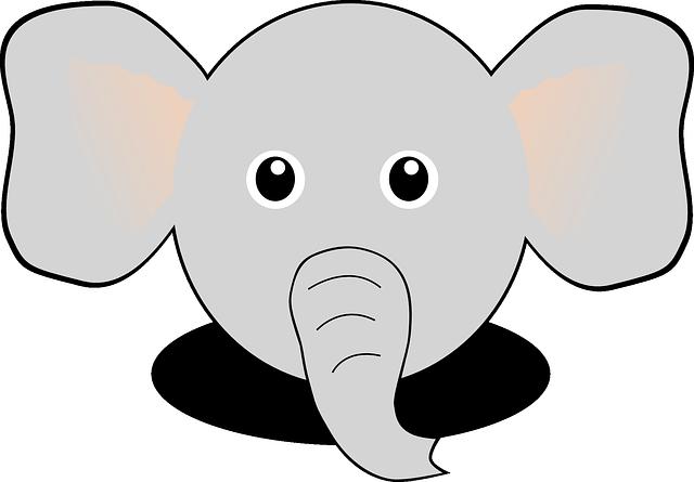 Image vectorielle gratuite Éléphant, Tronc, Des Animaux