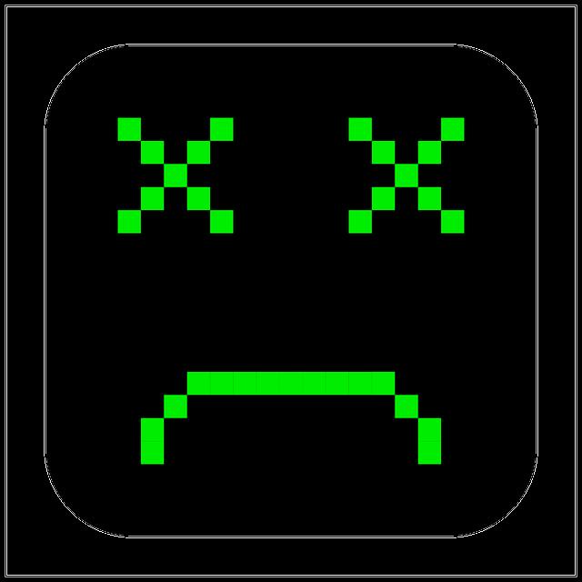 Free Vector Graphic Broken Computer Emoticon Smiley Free Image On Pixabay 153601