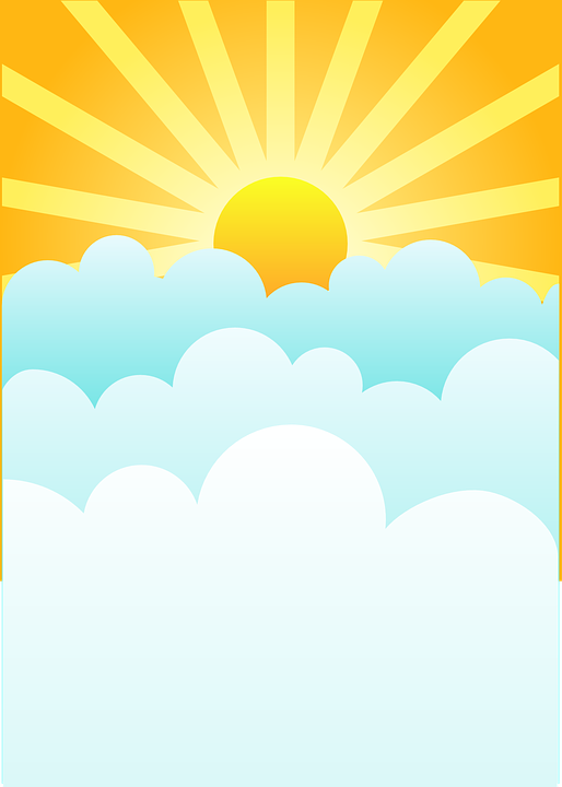 sunrise clouds rising sun free vector graphic on pixabay rh pixabay com rising sun vector art rising sun vector w8
