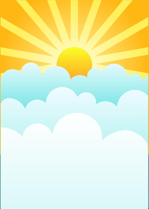 日出 云 初升的太阳 - 免费矢量图形pixabay