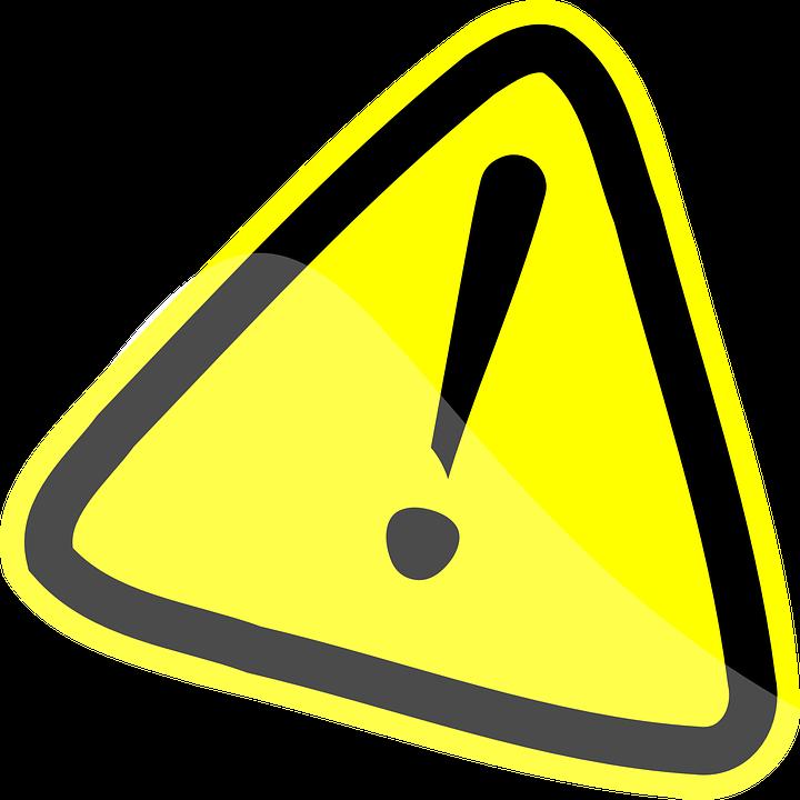 Image vectorielle gratuite mise en garde jaune attention image gratuite - Mise en demeure restitution caution ...