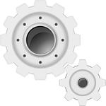 gears, white, machine