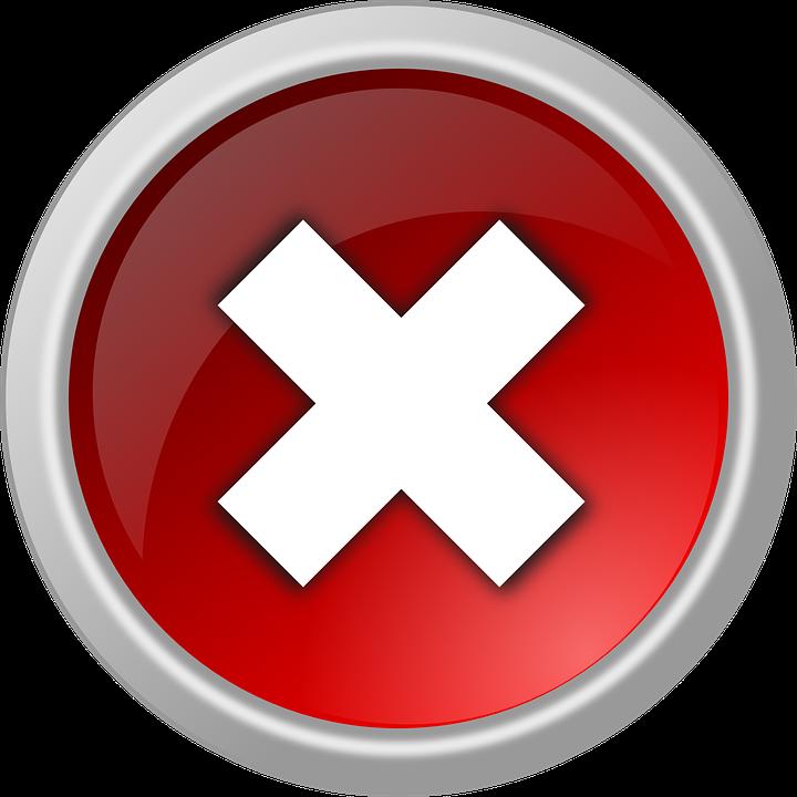 Icons Trading Error Log: Free Vector Graphic: Cancel, Delete, Abort, Remove, No