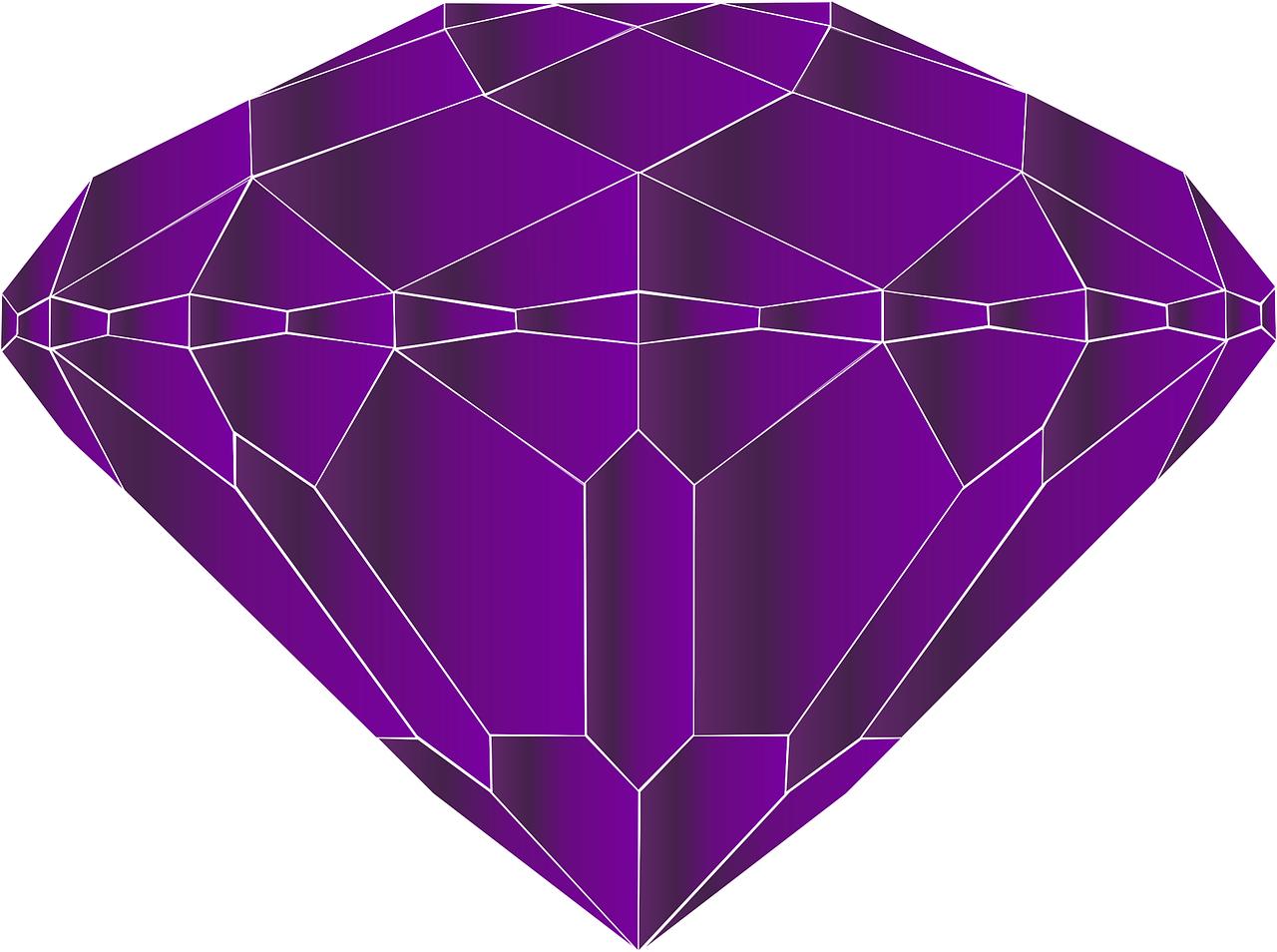 постоянно рисунок кристаллов аметиста также