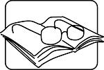 reading glasses, prose, book