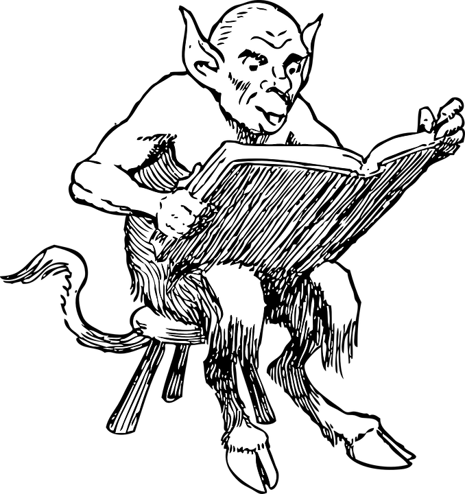 Satan Lucifer Book Free Vector Graphic On Pixabay