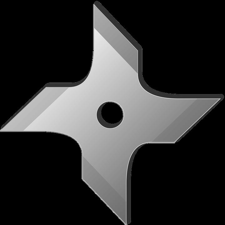 Kostenlose Vektorgrafik Wurfstern Shuriken Ninja Sterne