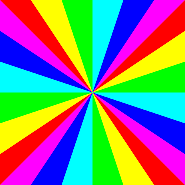 Rainbow Colors Circular Symmetry 183 Free Vector Graphic On