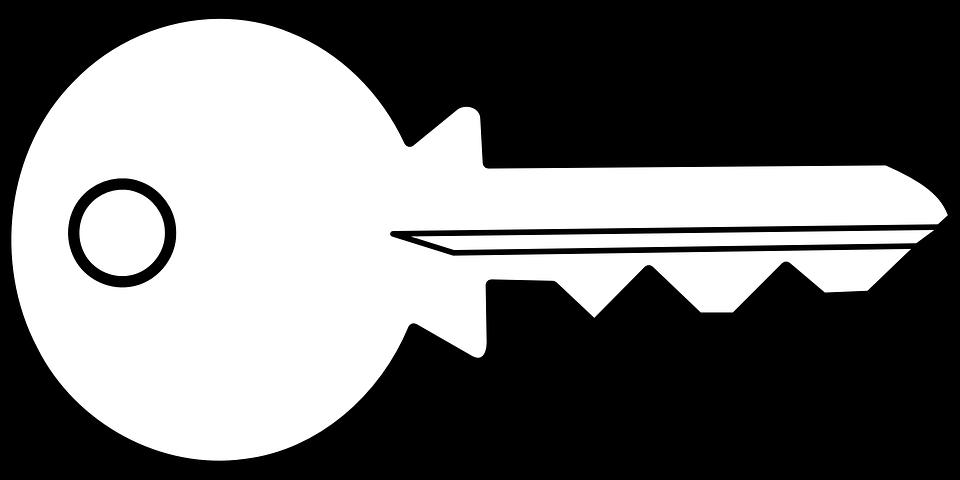 house key outline. Key Access Open Unlock Bit Security House Outline