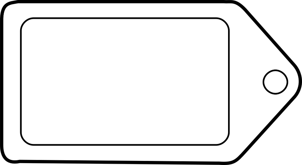 Blank Printable Tags: Label Tag Marker · Free Vector Graphic On Pixabay