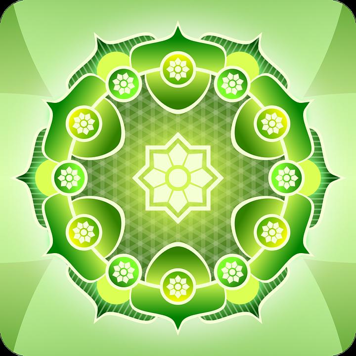 Free Vector Graphic Abstract Green Mandala Pattern