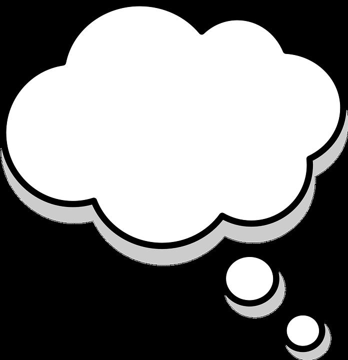 Myślenia, Myśli, Pęcherzyków, Dymki