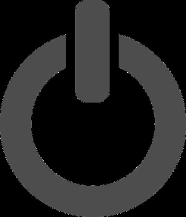 Shutdown Turn Off White Free Vector Graphic On Pixabay