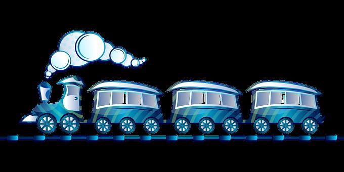 Tren De Juguete, Azul, Locomotora