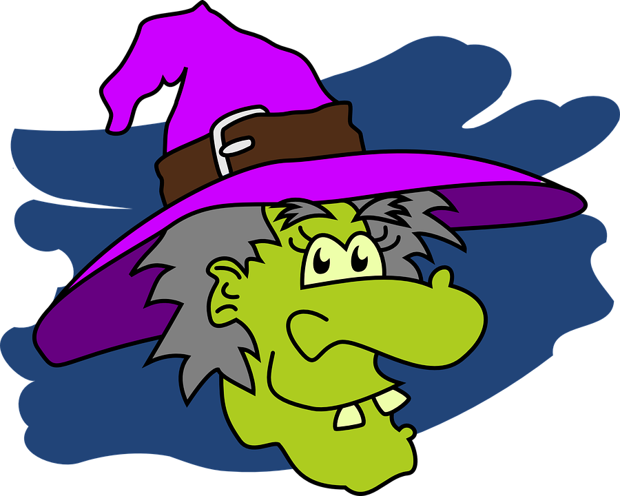 Halloween Cartoon Witch Face.Witch Face Halloween Free Vector Graphic On Pixabay