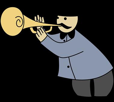 Trumpet, Band, Bandsman, Horner, Man