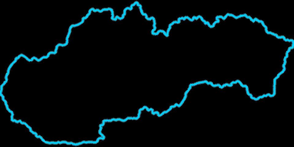 Slovakia Map · Free vector graphic on Pixabay