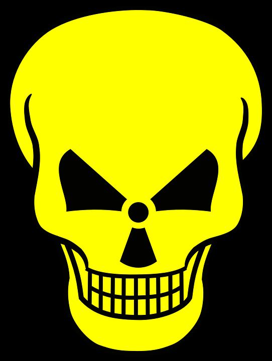 free vector graphic radioactive atomar kill free