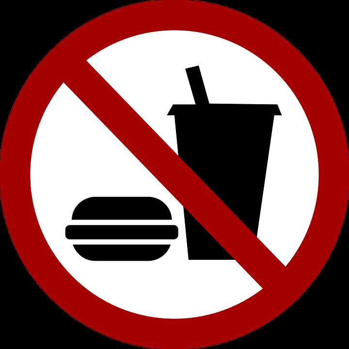 No Food, No Eating, Food, Ban, Prohibited, Forbidden