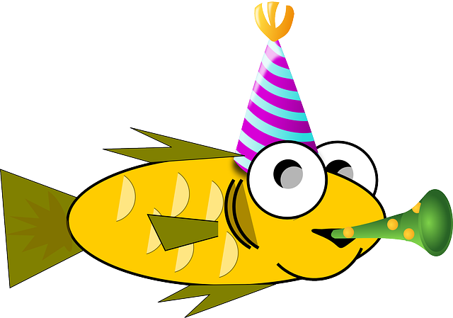 Free vector graphic: Birthday, Fish, Party, Goldfish ...