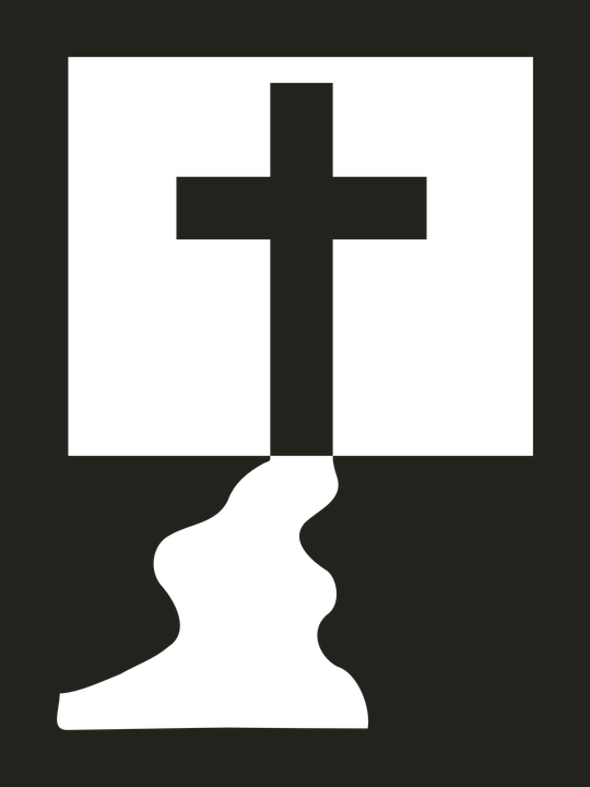 Black And White Free Christian Clip Art Free vector grap...