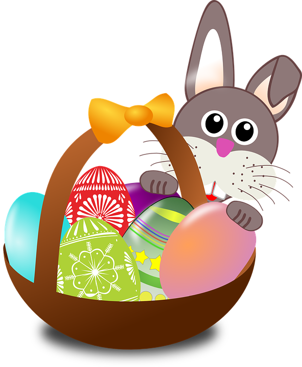 Free vector graphic: Easter, Bunny, Eggs, Nest, Basket - Free ...