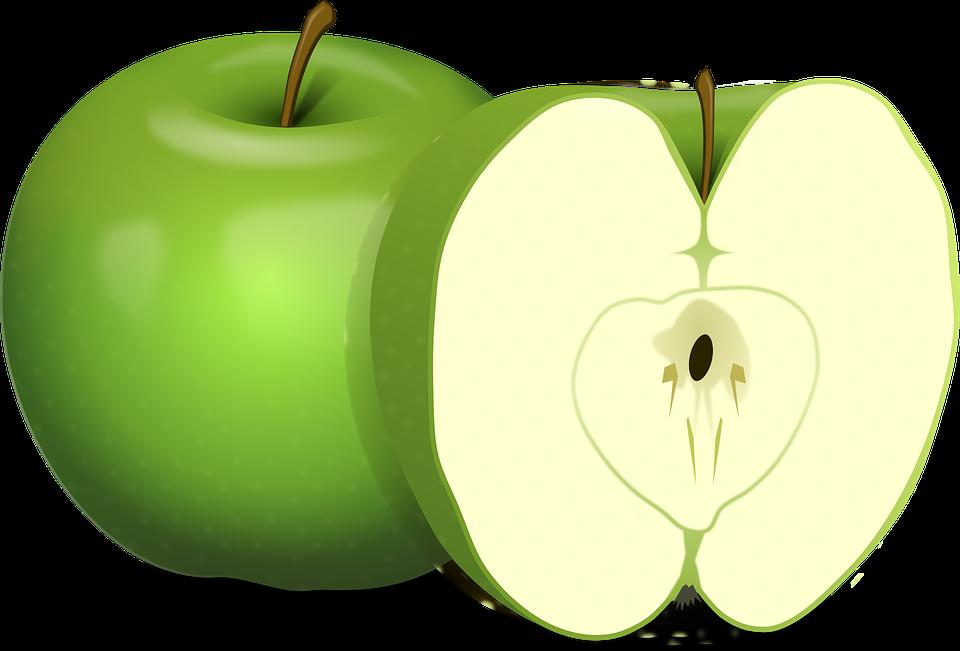 apple slice png. apples, green, fruit, food, carpel, cut apple slice png