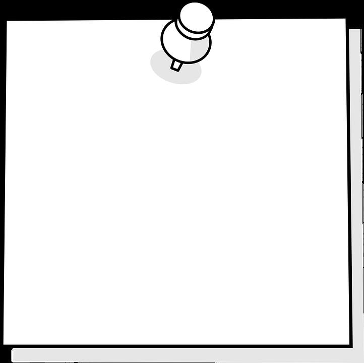 image vectorielle gratuite pense b te post it blanc m mo image gratuite sur pixabay 154504. Black Bedroom Furniture Sets. Home Design Ideas
