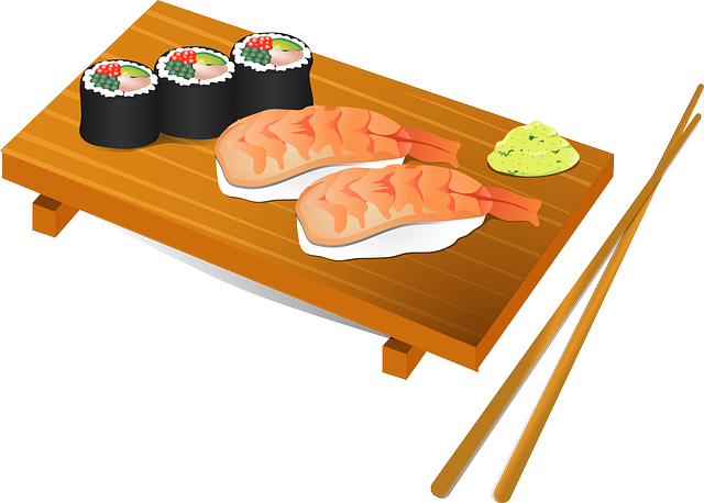 Sushi Chopsticks Fish · Free vector graphic on Pixabay