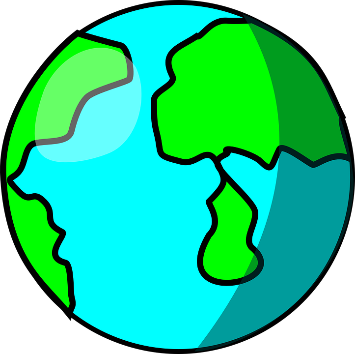 world earth planet free vector graphic on pixabay rh pixabay com Map of Continents North America Map