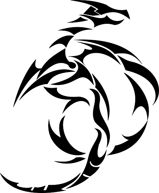 Dragon Tattoo Png: Dragon Chinese Tattoo · Free Vector Graphic On Pixabay