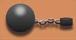 jailbird, prisoner, ball and chain