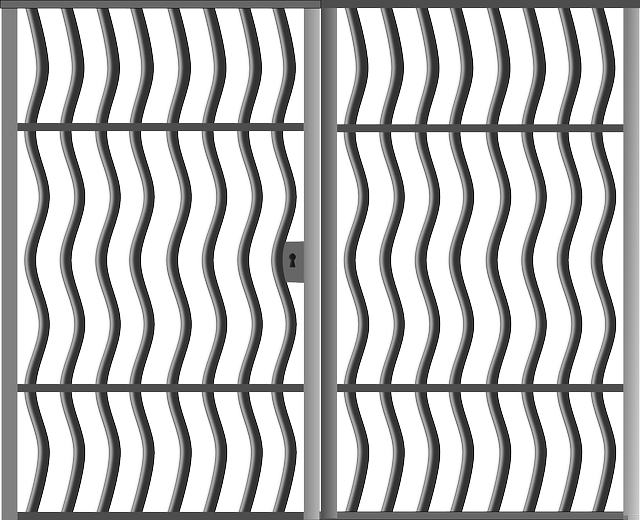 Free Vector Graphic Gate Closed Metal Fence Grille