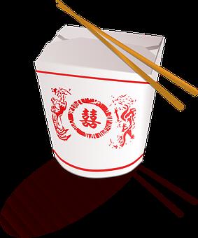 Takeaway Chinese Fast Food Box China Chops