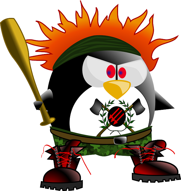 anarchy punk penguin 183 free vector graphic on pixabay