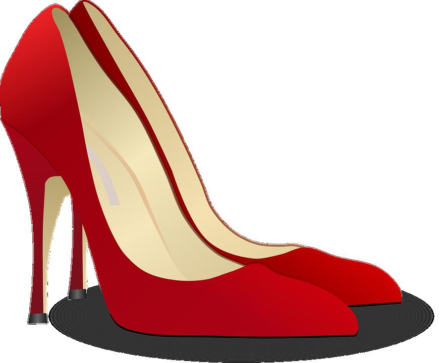 pumps high heeled shoe stack heel free vector graphic on. Black Bedroom Furniture Sets. Home Design Ideas