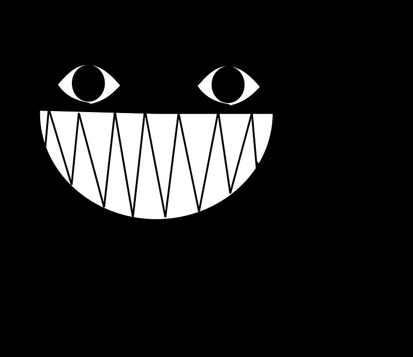 猫, 笑い, ニヤリ, 悪, 歯, サイコ, 動物, 目, ネコ, 漫画, コミック, ブラック