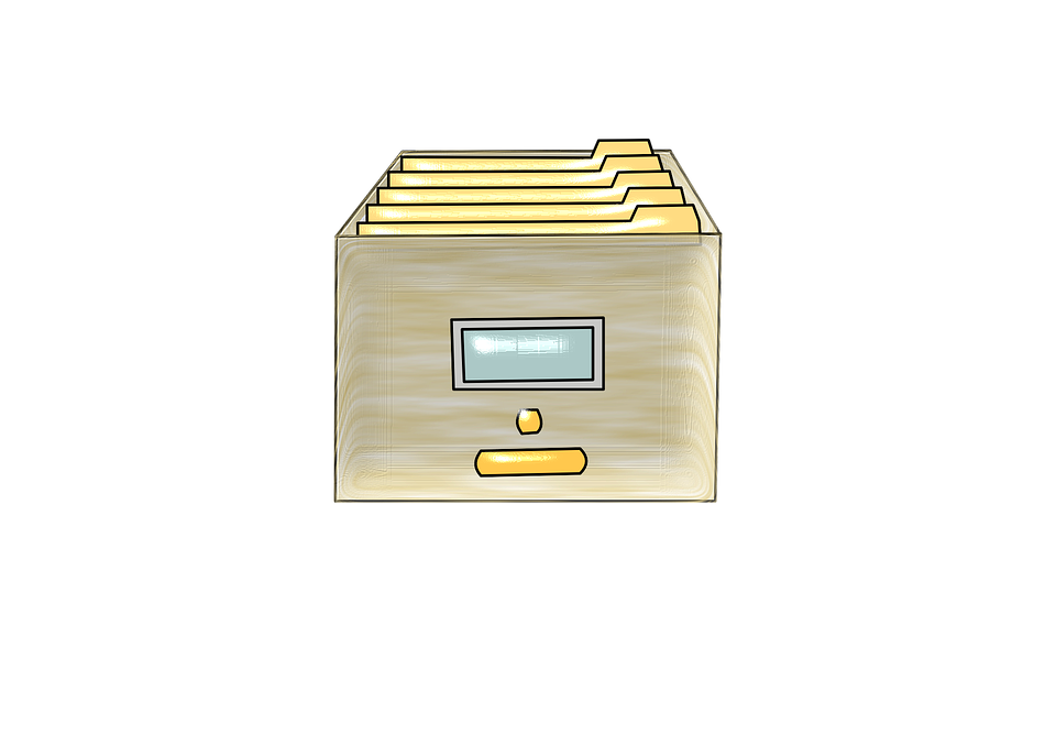Archive, Drawer, File Cabinet, Documents, Folders