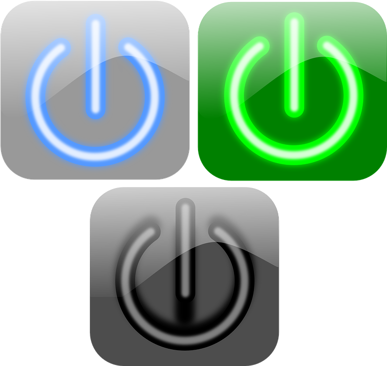 free vector graphic turn on turn off power buttons free