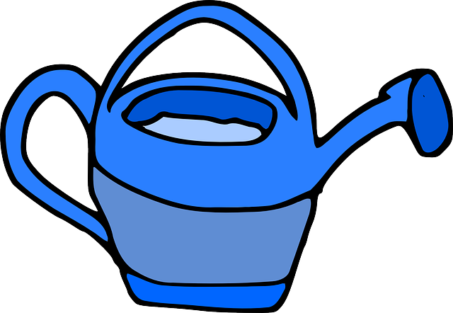 watering can blue wateringcan 183 free vector graphic on