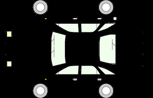 Automobile Body Car Cutout Flat