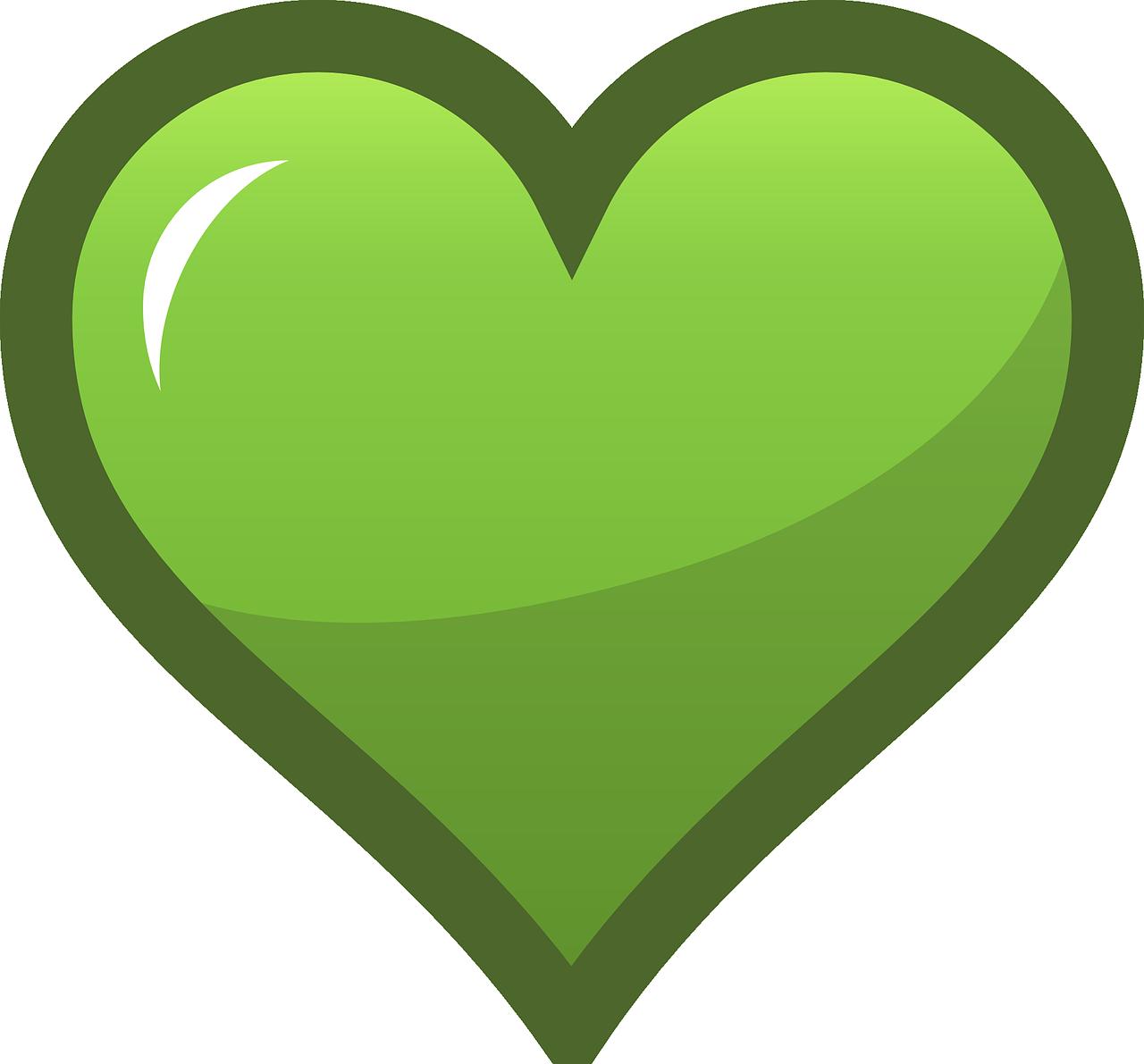 Зеленое сердце фото