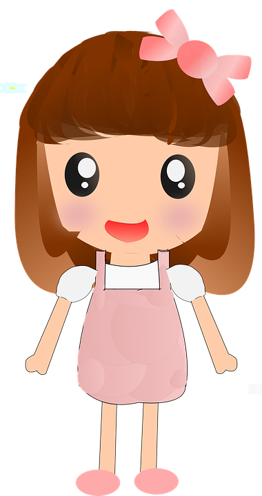 Cute Girl Cartoon Photo